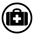 First aid button vector image