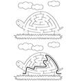 Easy tortoise maze vector image