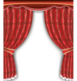 Luxury background with open red curtain vector image vector image