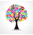 tree with colorful arrow icon vector image vector image