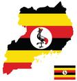 Uganda Flag vector image