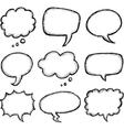 Hand drawn comic speech bubble vector image