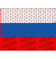 brick wall russia vector image