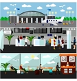 Airport terminal concept  Air vector image