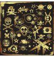 grunge skulls vector image