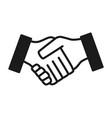 hand shake gesture vector image