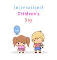 international children s day vector image