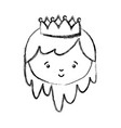 isolated princess design vector image