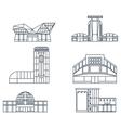 Shopping center facade lines vector image