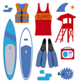 Surf set vector image