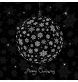 christmas ball silhouette vector image vector image