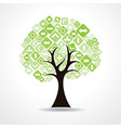 tree with green arrow icons vector image