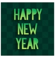 Happy New Year Card with volume lettering vector image vector image