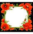 floral poppy frame vector image