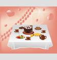 Table with sweets vector image vector image