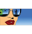Woman with reflective glasses vector image