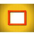 Red rectangular frame vector image