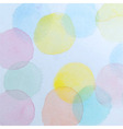 Abstract Watercolor Circles Background vector image vector image