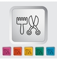 Scissors and comb vector image vector image