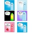 Six funny condom set vector image