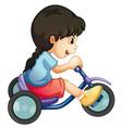Riding along Vector Image