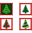 Christmas Postal stamp vector image