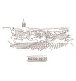 city sketching on white background - italy vector image