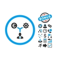 Euro Financial Development Flat Icon with vector image