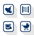 flat design icons toy set vector image