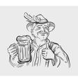 Oktoberfest logo design template Beer ale vector image
