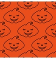pattern silhouette scary pumpkin face on vector image