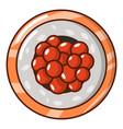 sushi caviar icon cartoon style vector image