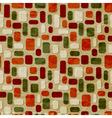 seamless christmas retro pattern vector image vector image