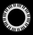 piano keys circular  for creative design on black vector image