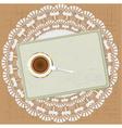 Morning tea vektor vector image