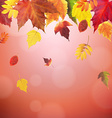 Autumn Red Vintage Border vector image vector image