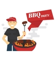 BBQ cooking vector image