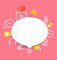 Speech cloud template with different icons Add vector image vector image