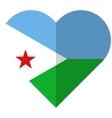 Djibouti flat heart flag vector image