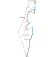 Israel Black White Map vector image