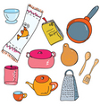 kitchen accesories vector image