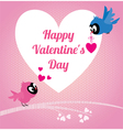 Lovers birds Happy valentines vector image