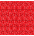 Red Circles Pattern vector image