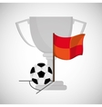 Soccer design Football icon Colorfull vector image