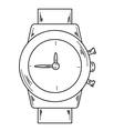 watch sketch vector image