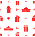 seamless gift box pattern red gift box vector image