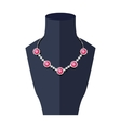 Store Mannequin with Necklace vector image