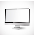 modern computer with white display vector image