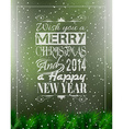 2014 Merry Christmas Vintage typo background vector image