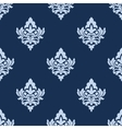 Pretty blue damask style arabesque pattern vector image vector image